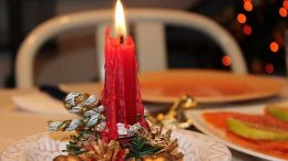Cena di Natale con Candela